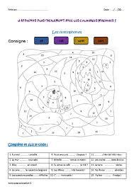homophones ce2 coloriage magique pass education