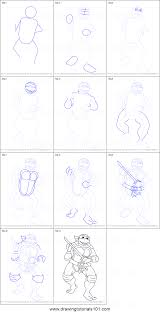 how to draw leonardo from teenage mutant ninja turtles printable