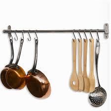 pot pan rack organizer wall mount kitchen cabinet hooks hang