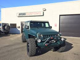 dark green jeep wrangler jeep wrangler custom green unlimited textured afterfx customs