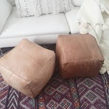 Leather Ottoman Round by Best 25 Leather Ottoman Ideas Only On Pinterest Moroccan Pouf