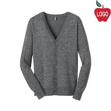 mens cardigan sweater district threads warm grey mens cardigan sweater dm315 merry