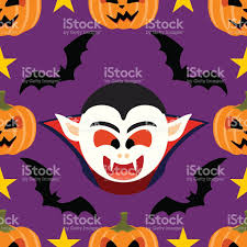 seamless halloween background seamless halloween background with dracula stock vector art