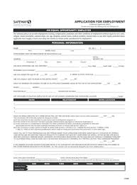 safeway job application form templates u2013 fillable u0026 printable with