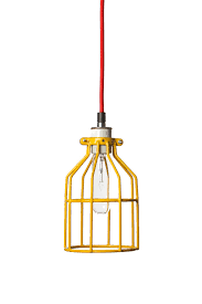 Wire Cage Light Industrial Lighting Yellow Wire Cage Light Pendant By Indlights