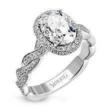 twisted shank engagement ring 18k white gold twisted shank engagement ring