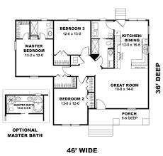 first floor plan of craftsman narrow lot house plan 64577 floor