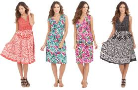 sun dress womens dress v neck floral summer dress mid length sundress