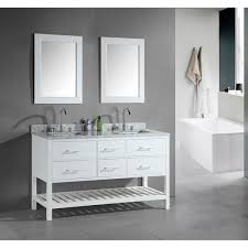 60 Inch White Vanity Design Element London 60 Inch Double Sink Bathroom White Vanity