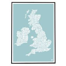 British Isles Map British Isles Food Map By Lucy Loves This Notonthehighstreet Com