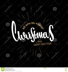 merry christmas modern merry christmas and happy new year hand drawn design modern