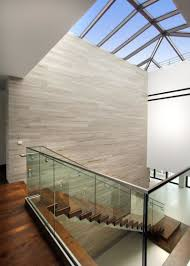 picturesque contemporary wooden house stairs modern glass stair