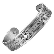 magnetic silver bracelet images Masonicman masonic men 39 s pure copper magnetic therapy jpg