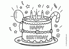17 images happy birthday coloring pages