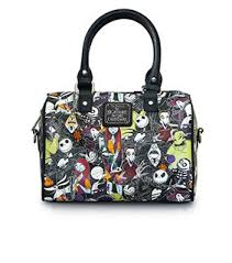 loungefly x nightmare before character duffle bag