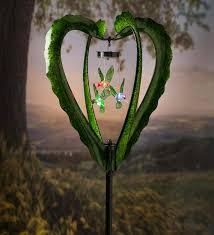 Decorative Hearts For The Home Solar Mobile Wind Spinner With Hummingbird Mobile For The Home