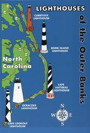 netherlands lighthouse map outer banks lighthouses state map cape hatteras carolina