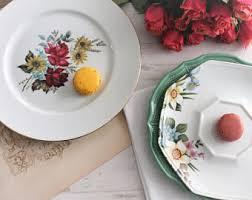 Shabby Chic Dinner Set by Porcelain Dinnerware Etsy