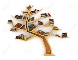 Wooden Bookshelf Concept Of Training Wooden Bookshelf In Form Of Tree Science