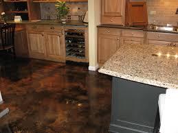 Concrete Kitchen Cabinets Kitchen Floor Stained Floor Stained Concrete Floor Polished