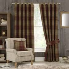 Tartan Drapes I Love This Look Tartan Old Leather Chesterfield Botanical