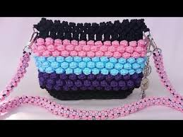 youtube cara membuat tas rajut dari tali kur tutorial lengkap tas tali kur motif bubble warna warni tas pelangi
