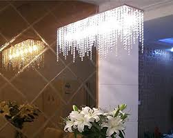 Dining Room Chandelier Lighting 7pm Modern Linear Rectangular Island Dining Room Crystal