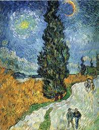 previous vincent van gogh wallpaper cypress against a starry sky