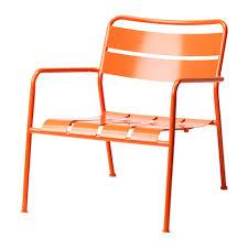 Patio Armchair Ikea Modern Orange Metal Outdoor Arm Chair Home Decor