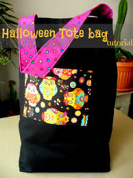 personalized halloween totes halloween tote bag easy beginners sewing tutorial