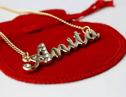 ebay name necklace images Indian name necklace 39 a 39 personalised gifts anita anjali jpg