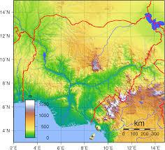 World Elevation Map by Graphatlas Com Nigeria