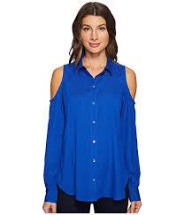 calvin klein blouses calvin klein sleeve cold shoulder button blouse at 6pm