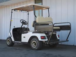 check out the rear flip seat on this 2000 e z go gas golf car it