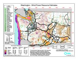 State Of Washington Map by Download Free Washington Wind Energy Maps