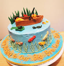 interior design view fishing themed cake decorations decorate