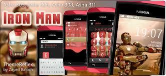 themes nokia asha 308 download iron man theme for nokia asha 305 asha 306 asha 308 asha 311