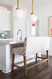 Upholstered Counter Height Bench This Vibrant Utah Home Really Brings The Happy Bench
