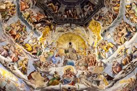 cupola s fiore fresco on cupola of santa fiore florence italy