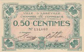 chambre de commerce abbeville chambre de commerce and local emergency banknotes from during