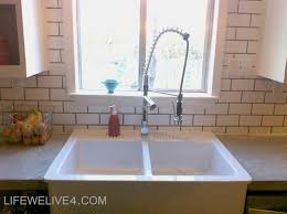 how to install backsplash in kitchen install subway tile backsplash kitchen dma homes 44900