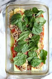 low carb vegetarian zucchini lasagna garden in the kitchen