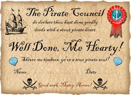 Participation Certificate Templates Free Download Pirate Certificates Rooftop Post Printables