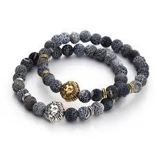 bracelet natural stone images 2017 tiger eye lion head bracelet buddha beads bracelets bangles jpg
