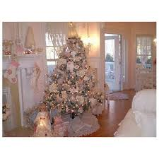 Shabby Chic Christmas Tree by Shabby Chic Christmas Decorating Romantic White Christmas D