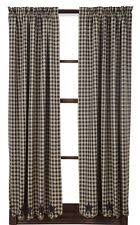 rustic primitive checked curtains drapes u0026 valances ebay