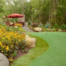 Backyard Golf Course by Why Stop At A Putting Green Install A Backyard Golf Course