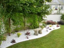 wonderful landscaping ideas with white pebbles and stones page 2