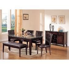 danville marble r dining table in black marble u0026 walnut 07058