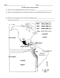 aztec mayan inca map aztec inca map and powerpoint by groovingup teaching